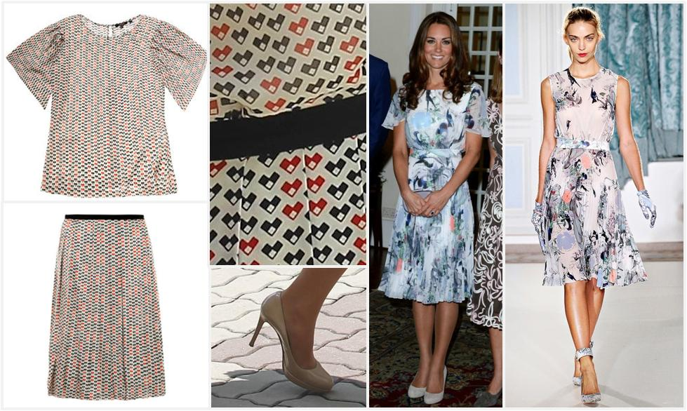 The Top And Skirt Plus Print Those Shoes Kates Version Of Erdem At Reception One Dresses That Trotted Down Runway Using