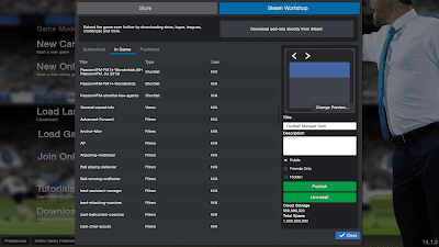 Publish FM14 files on Steam Workshop