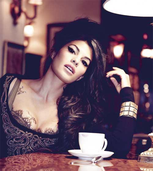 jacqueline fernandez as amy winehouse in harper bazaar - hot images