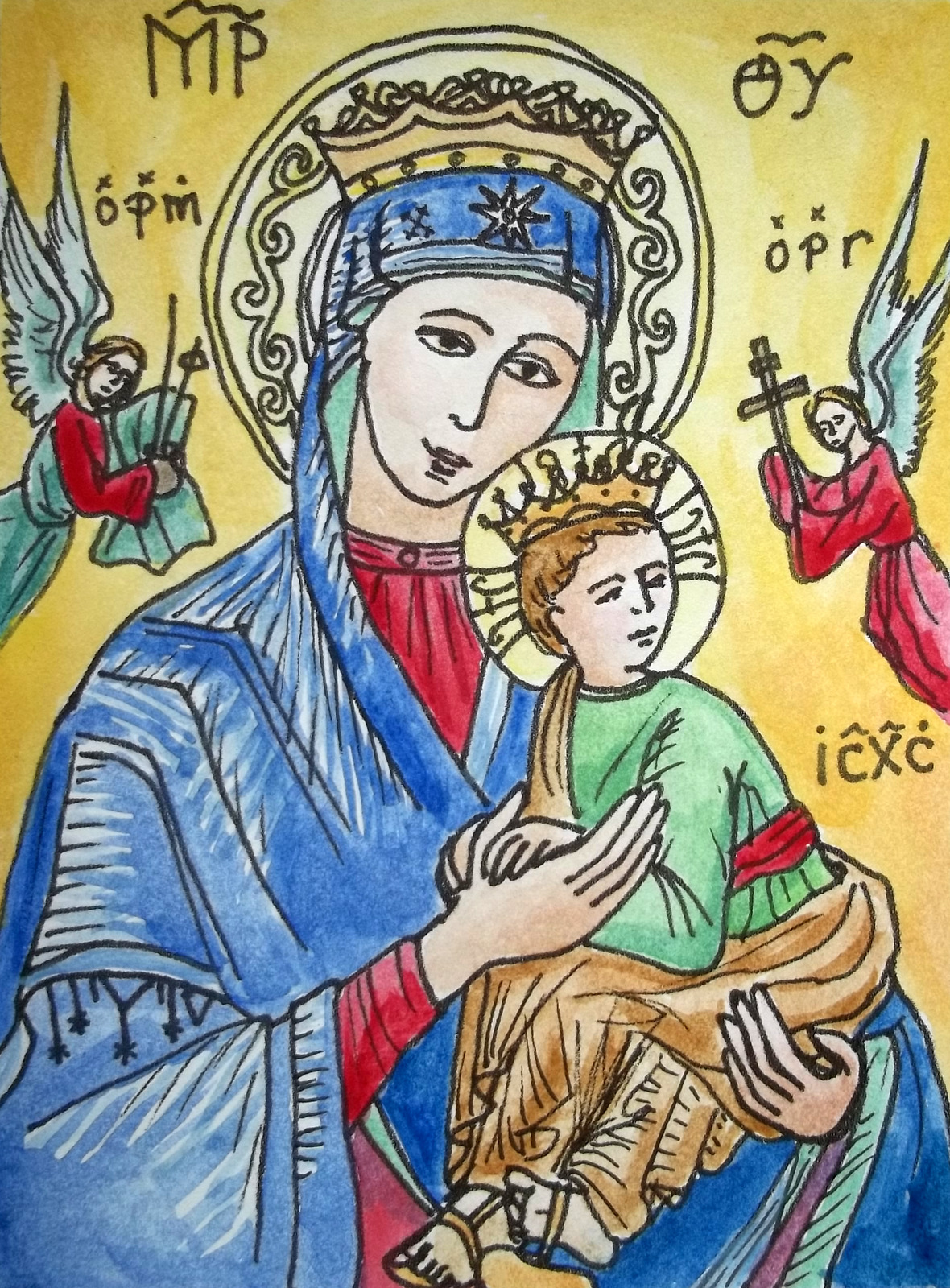 a little bird: holy name of mary, our lady of perpetual help