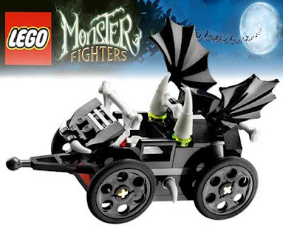 Strange haunted train 9467 set Monster Lego ghost creepy wagon trucks railway cars black bat wings
