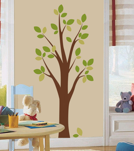 beautiful tree for house: diy tree wall decal-free down-loadable template!!
