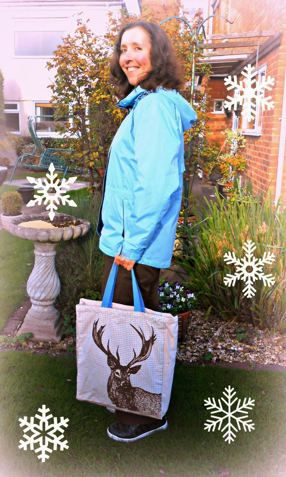 WWF Deer Tote Bag with woman
