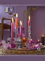 Романтична аранжировка със свещи за Свети Валентин