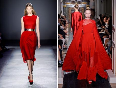 فساتين حمراء 2013 - فساتين للسهرات - فساتين شتوية
