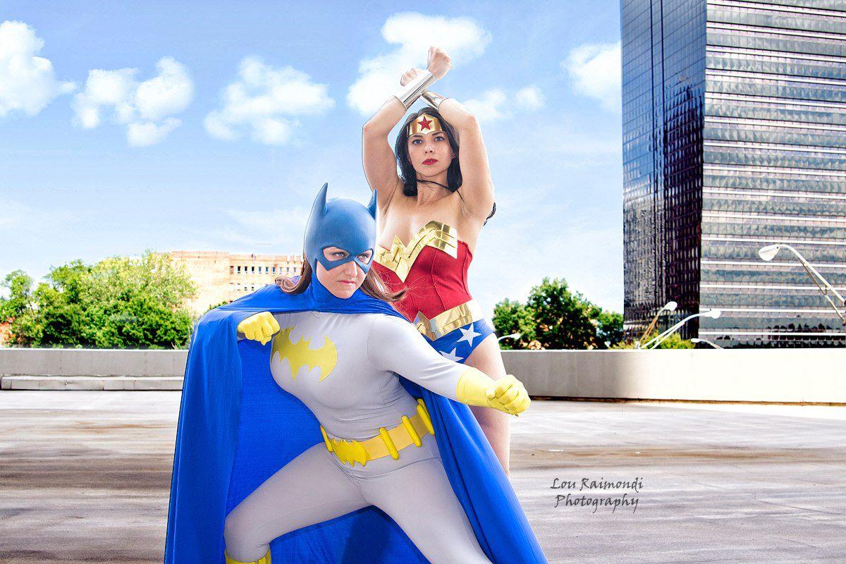 Wonder Woman (Margie Cox and Teri Christineas Batgirl!)