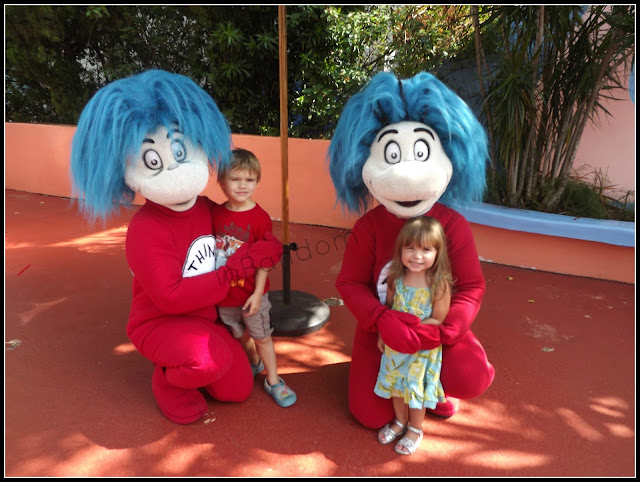 Pictures with Thing 1 and Thing 2