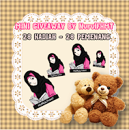 MINI GIVEAWAY BY NurulFHMT!