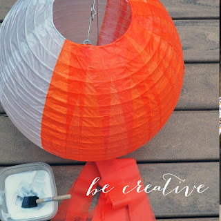 add colour to paper lanterns with tissue paper tutorial on Creative Bag's blog