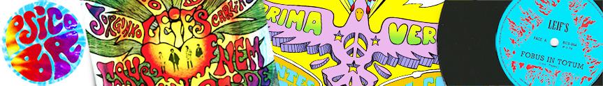 Psico BR Discos Posters Psicodélicos Psicodelia Brasileira Música Psicodélica Fabricio Bizu