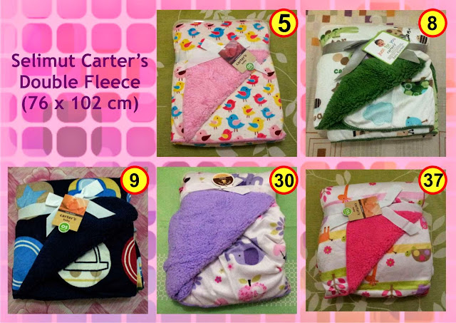 Foto produk grosir ecer selimut bayi double fleece lembut merk Carter's