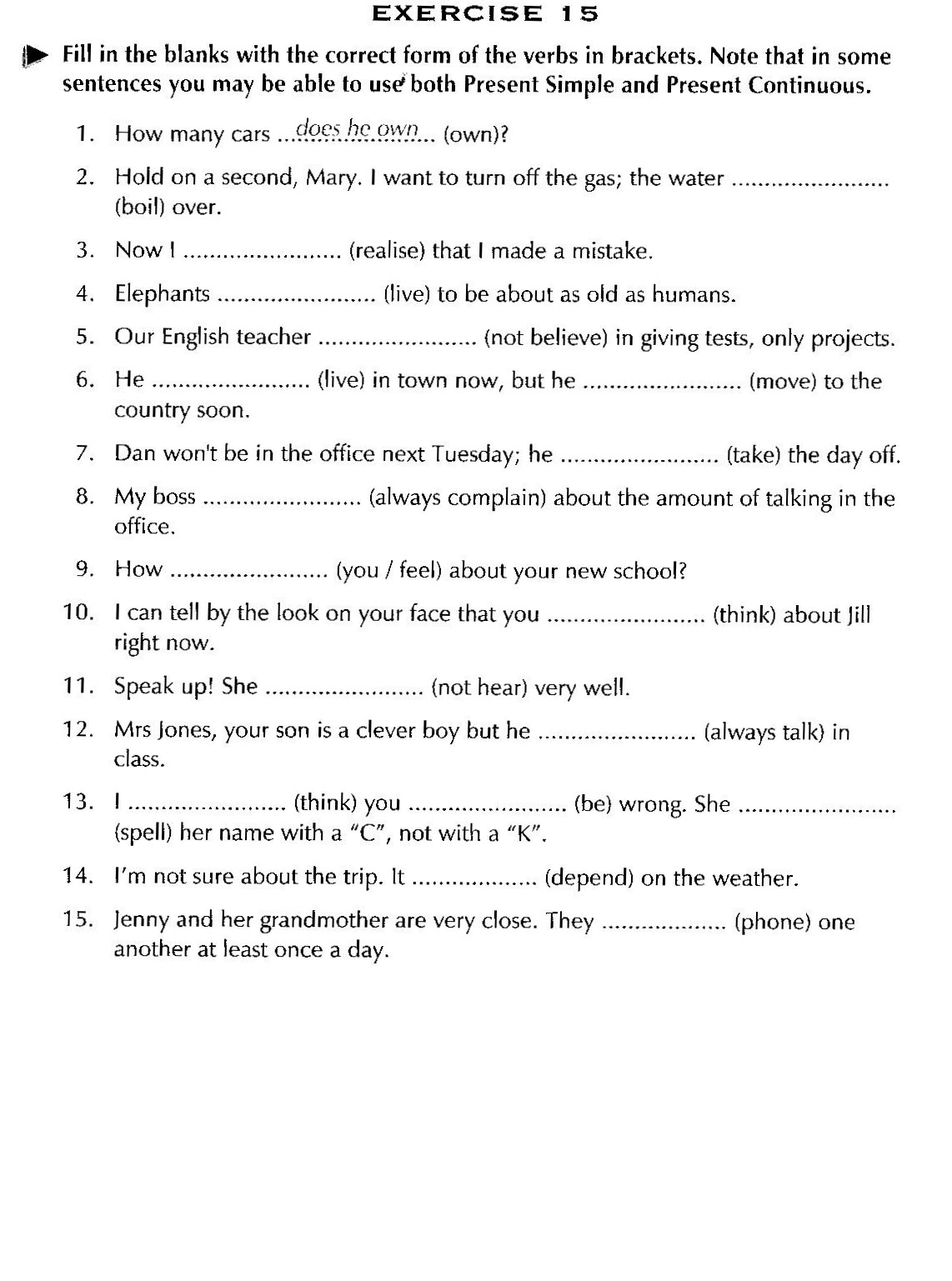 Workbooks spanish present tense practice worksheets : Valme's English Corner: Review for Christmas - Upper-Secondary