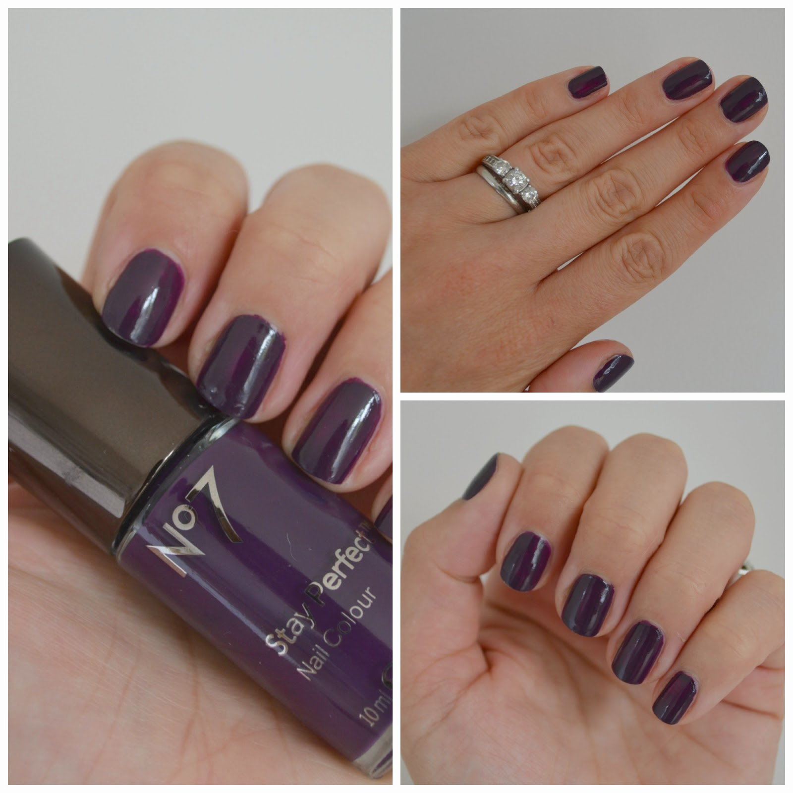 No7 Stay Perfect Nail Colour in Blackcurrant