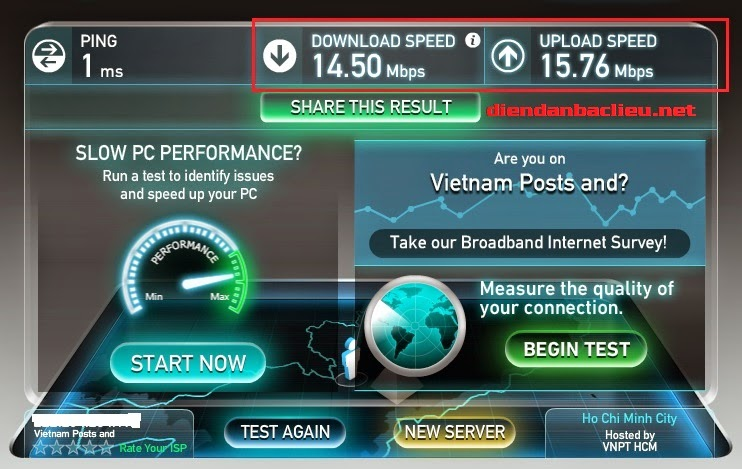 cách kiểm tra tốc độ mạng internet vnpt, fpt , viettel