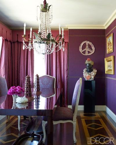 This Bedroom Shows How Pretty Aubergine Eggplant Is When Combined With Shades Of Pink