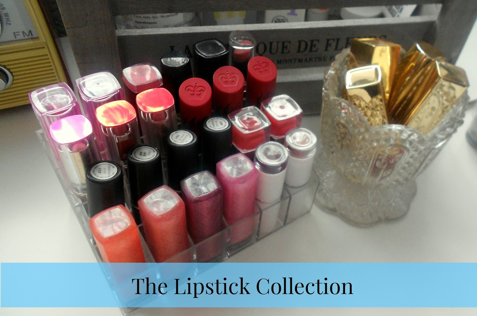 lipstick collection and storage makeup