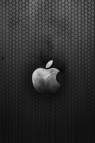 cool looking apple logo