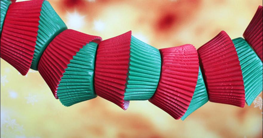 Cheaparty cadenetas con moldes de papel para magdalenas - Moldes papel magdalenas ...