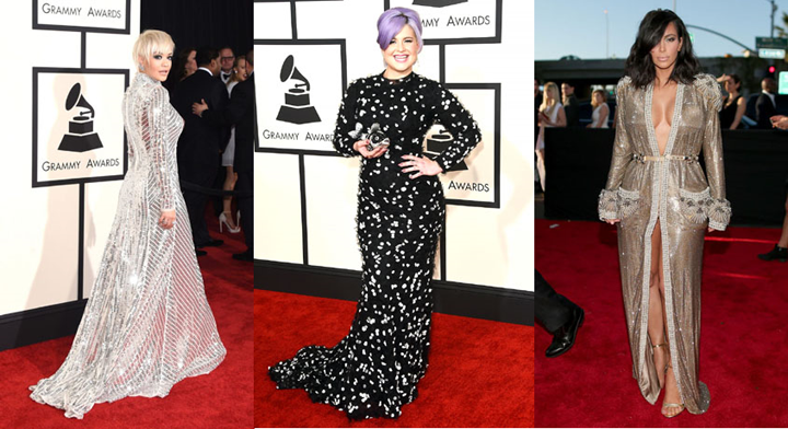 Grammys 2015 best dressed rita kardashian kelly osbourne fashion blog