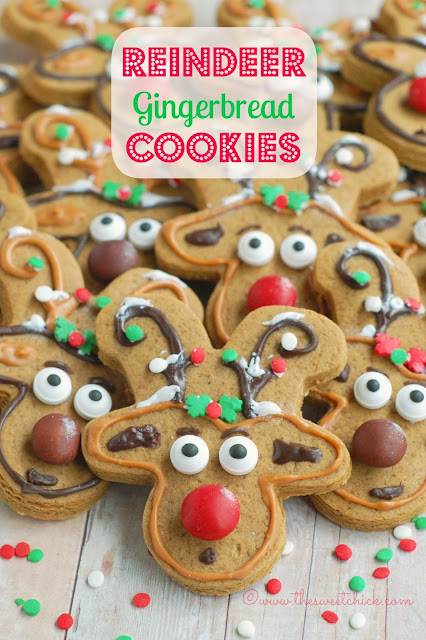 Reindeer Gingerbread Cookies by The Sweet Chick
