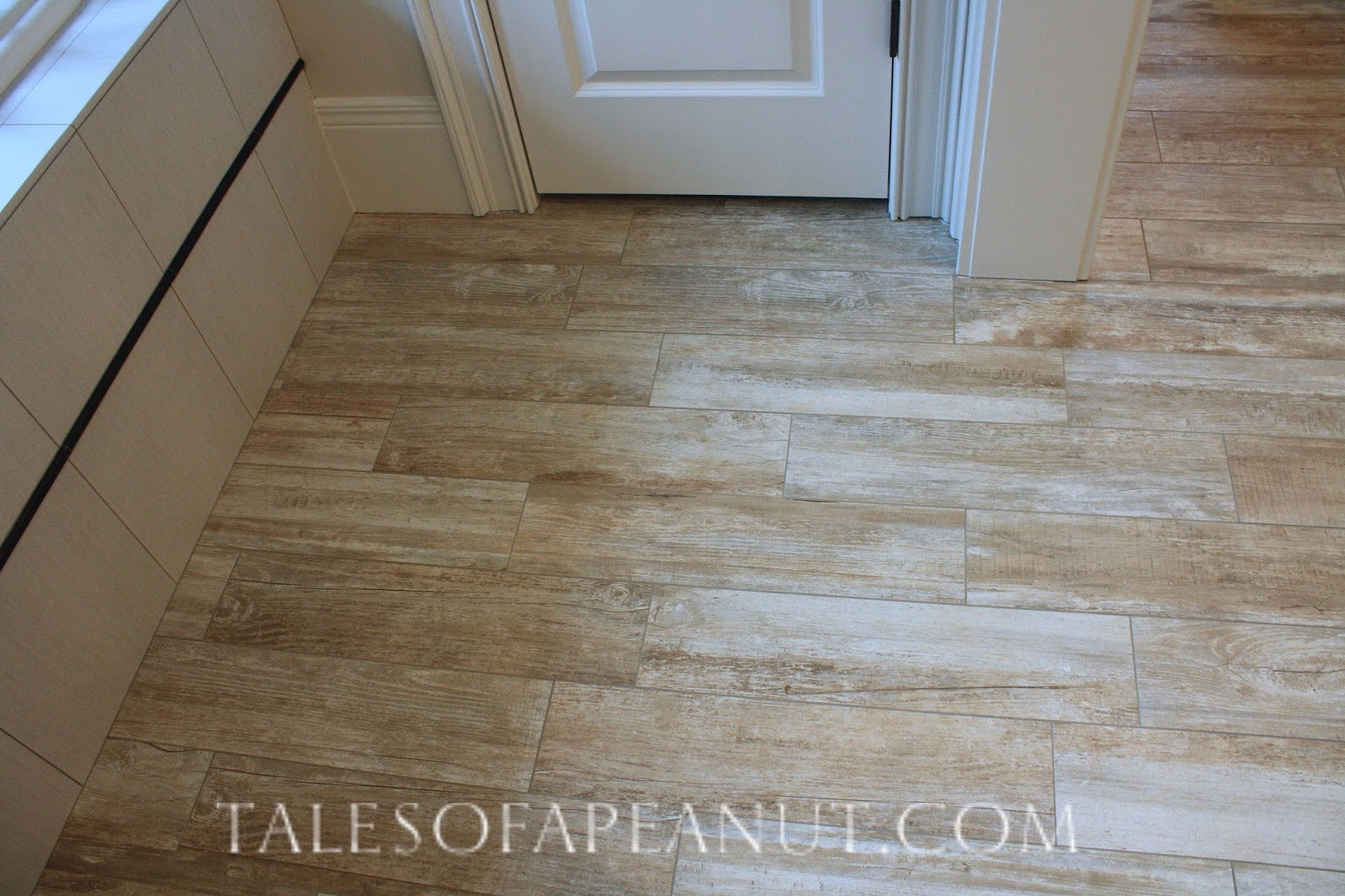 Bathroom floor tiles on pinterest porcelain tiles for Fake tile floor