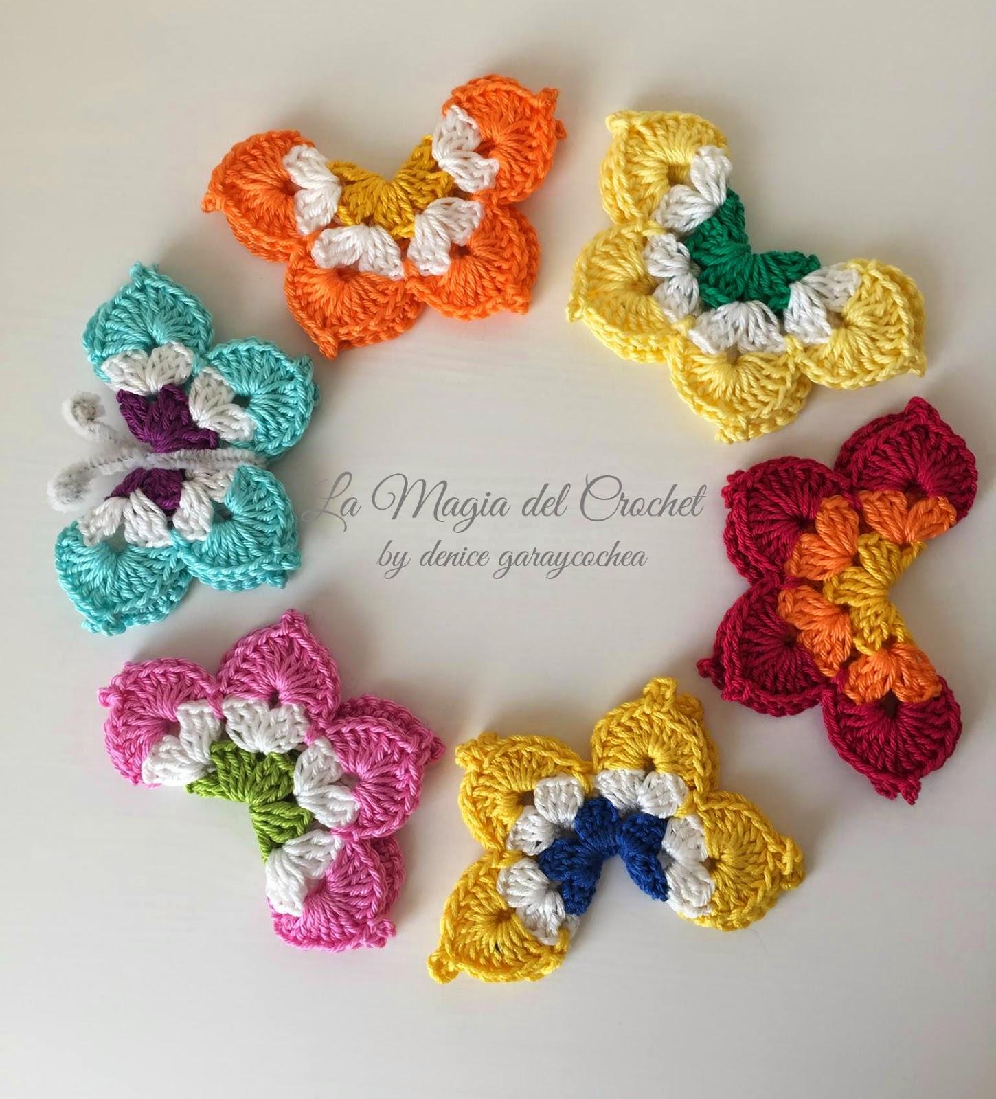 La magia del crochet mariposas a crochet - Cosas de ganchillo faciles ...