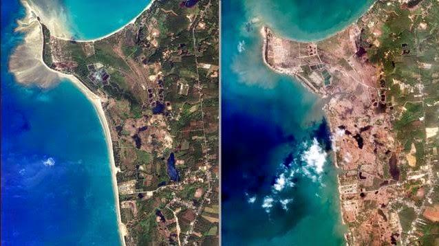 peta dampak tsunami aceh
