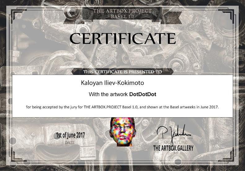 Certificate ArtBasel
