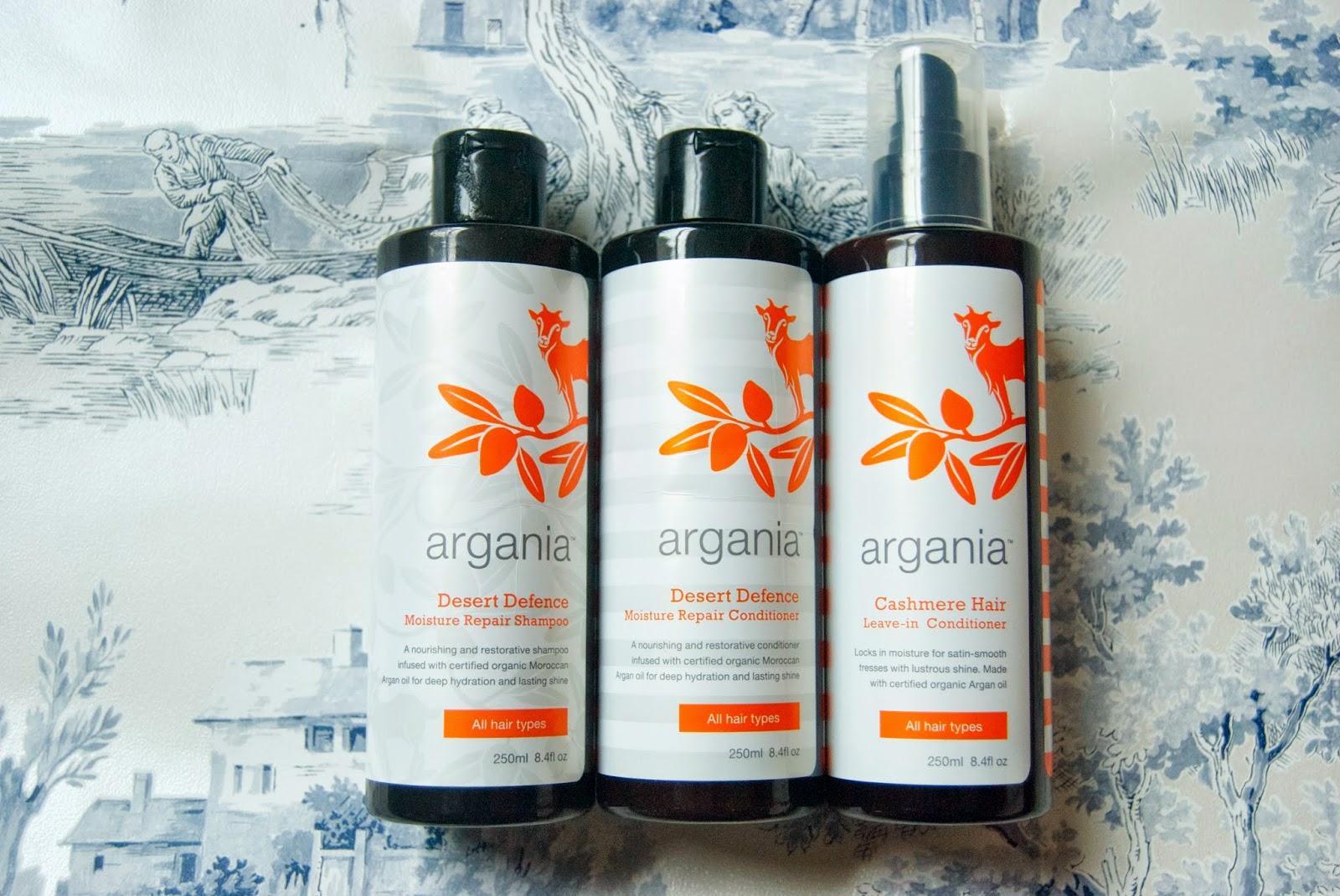 Review Argania shampoo and conditioner