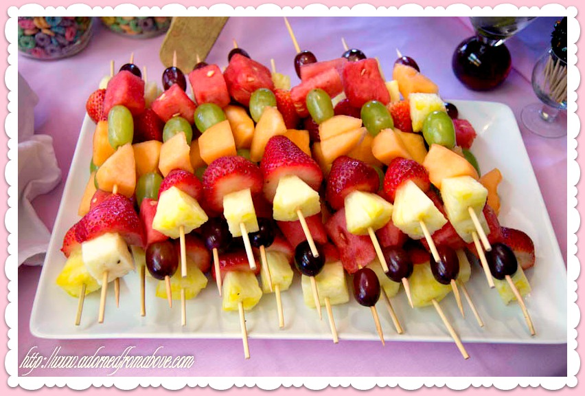 Fruit Skewers For A Baby Shower