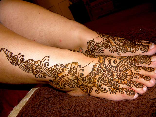 Mehndi Leg Designs : Mehndi designs for legs beautiful collections