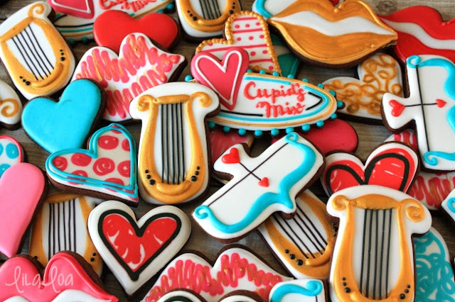 Valentine's Day Cupid's Harp -- Decorated Cookies Tutorial