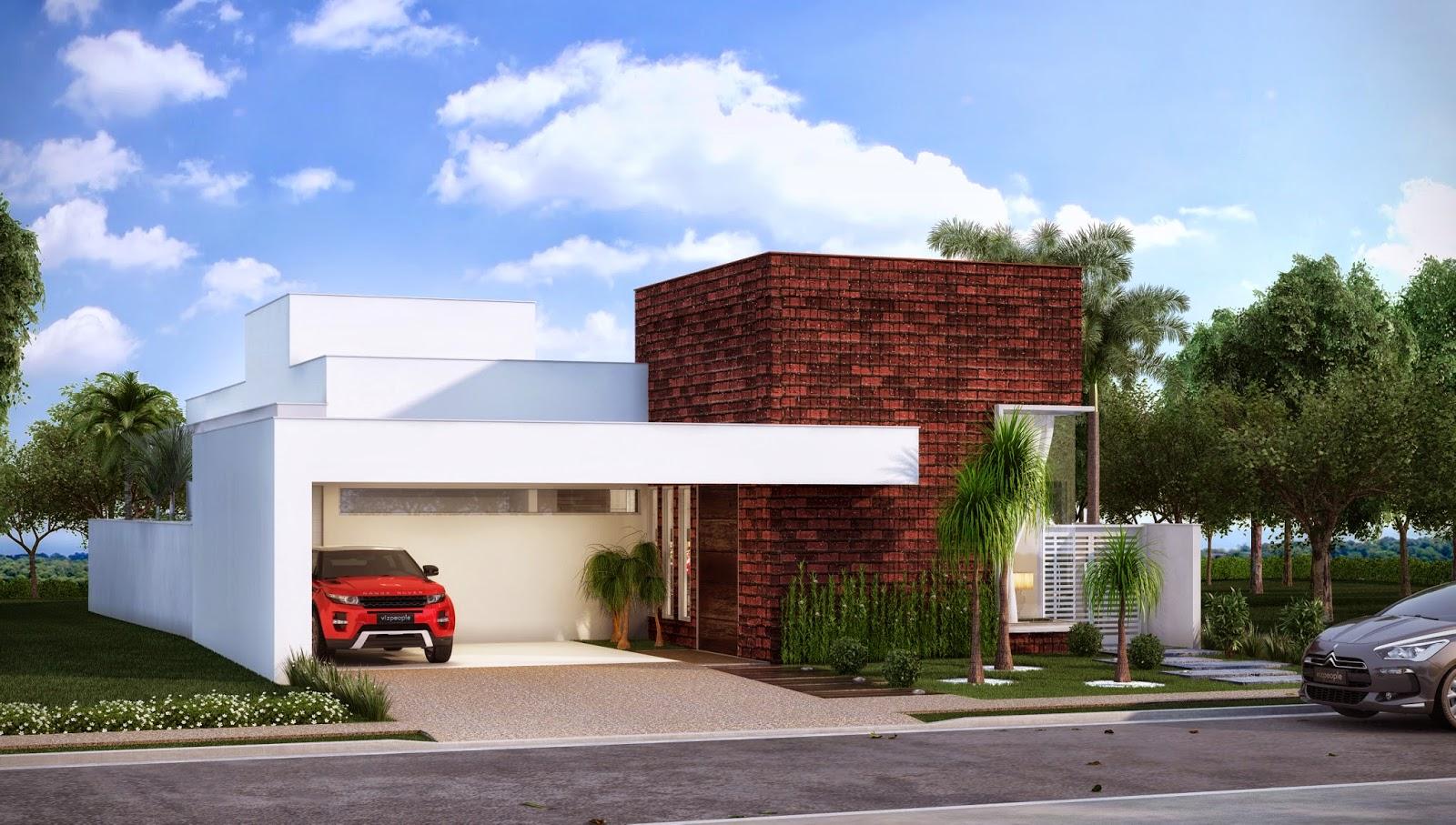 Fachadas de casas terreas fachadas de casas modernas for Decorando casa