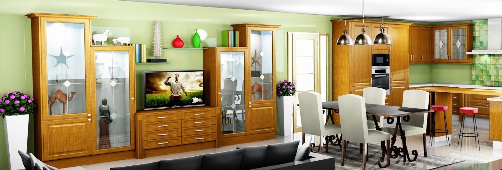 Muebles separadores de cocina y comedor for Muebles de cocina practicos