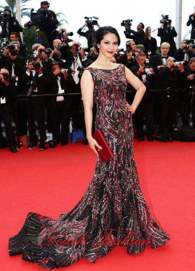 Maudy Koesnaedy di Red Carpet Cannes 2013