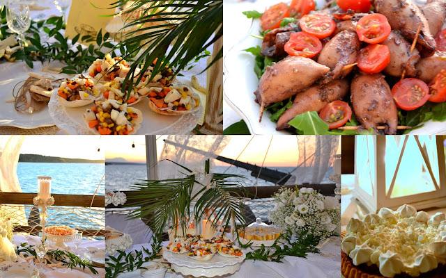 menù in riva al mare