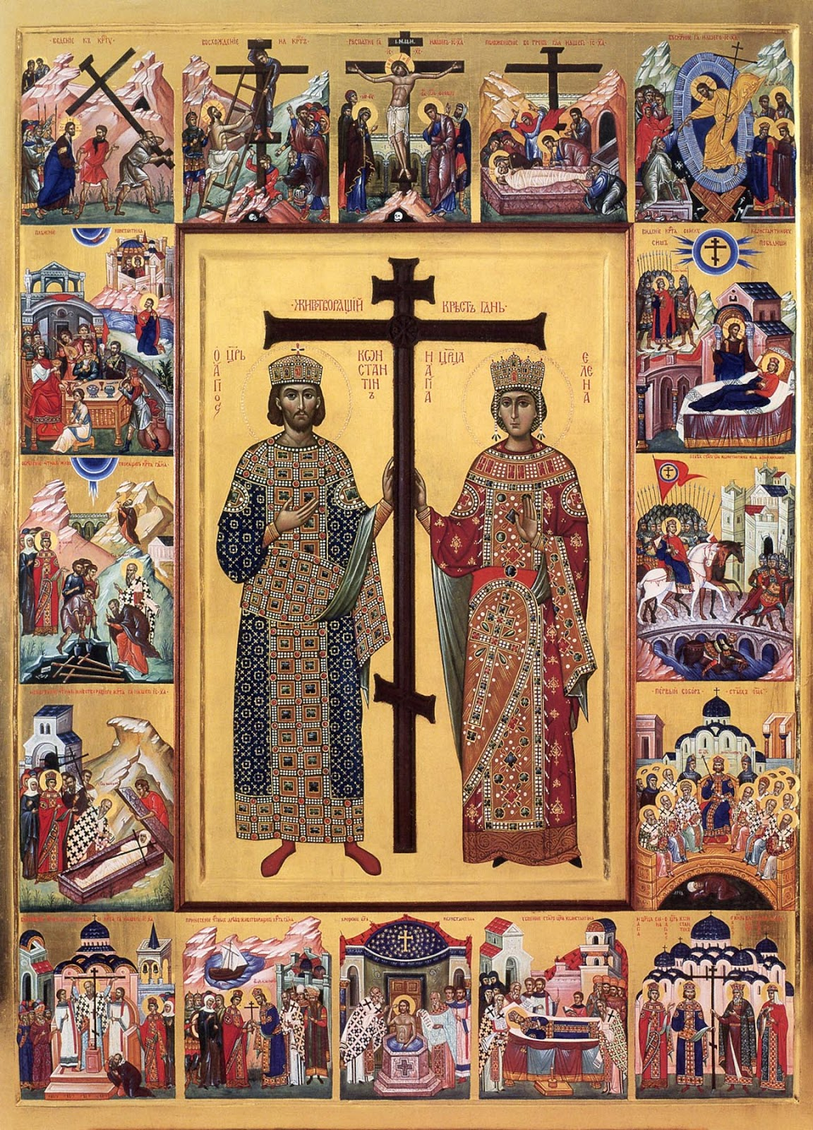 Constantine the Great and Elena: two lives connected by one Cross