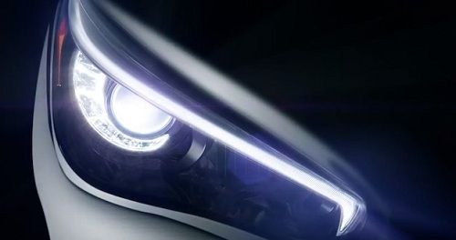 Infiniti Q50 sedan headlight