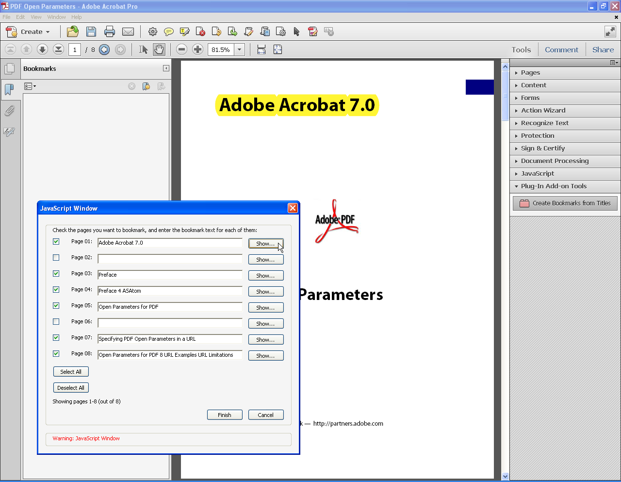 Adobe Acrobat XI Миниатюры 18