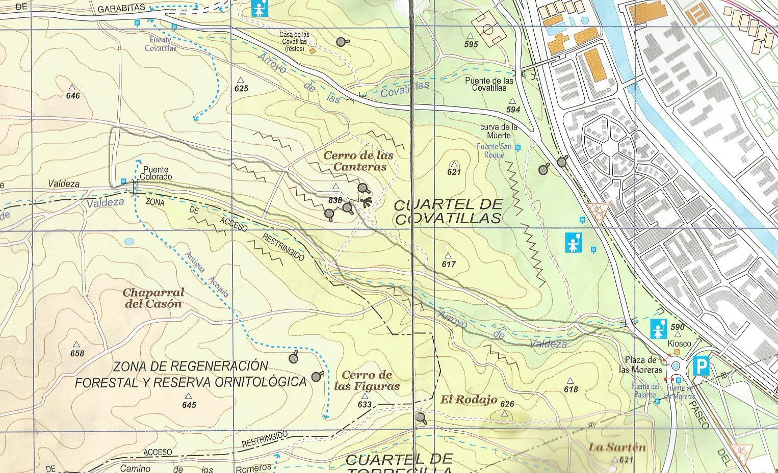 Por el arroyo Valdeza hasta el Puente Colorado y el Cerro de Las ...