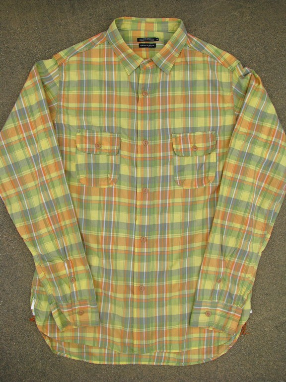 Sunny sports ss13 madras checker work shirts blue owl for 100 cotton work shirts