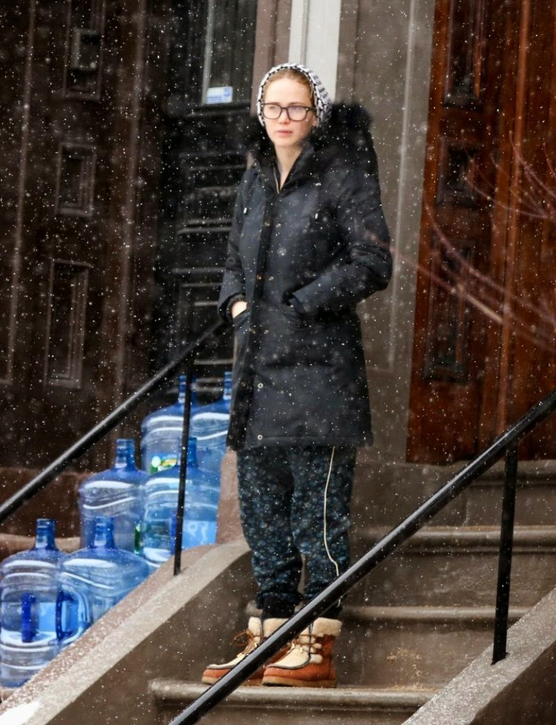 Jennifer Lawrence Winter Style – Out in Boston