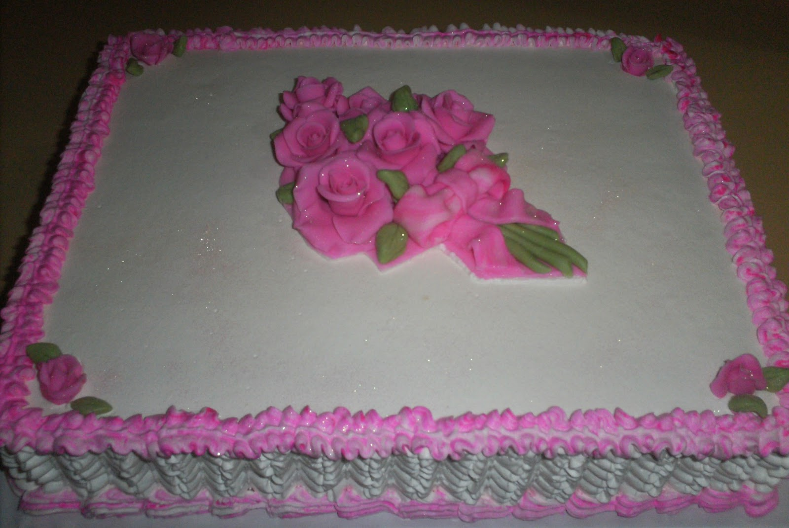 Edna Cakes Bolo Rosas De Açucar