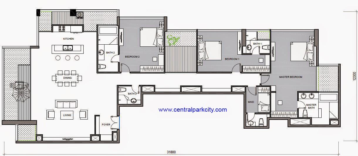 Vinhomes Central Park Penthouse - Căn Penthouse Vinhomes số 04 tầng 36 - 3PN - 276.5m2