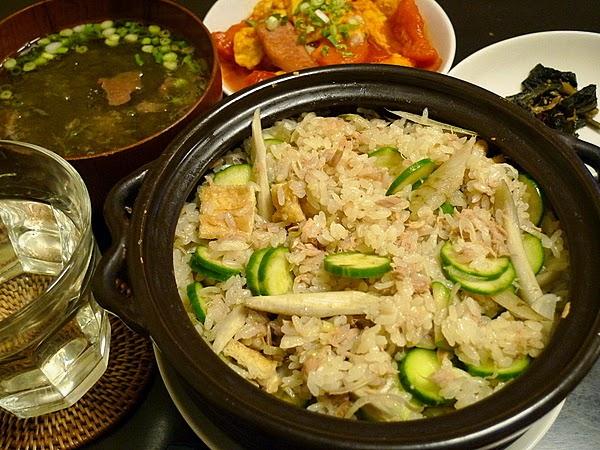 ツナとキュウリの炊き混ぜご飯
