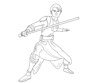 #2 Anakin Skywalker Coloring Page