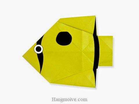 Cách gấp, xếp con cá bướm bằng giấy origami - Video hướng dẫn xếp hình sinh vật dưới nước - How to fold a Butterfly Fish