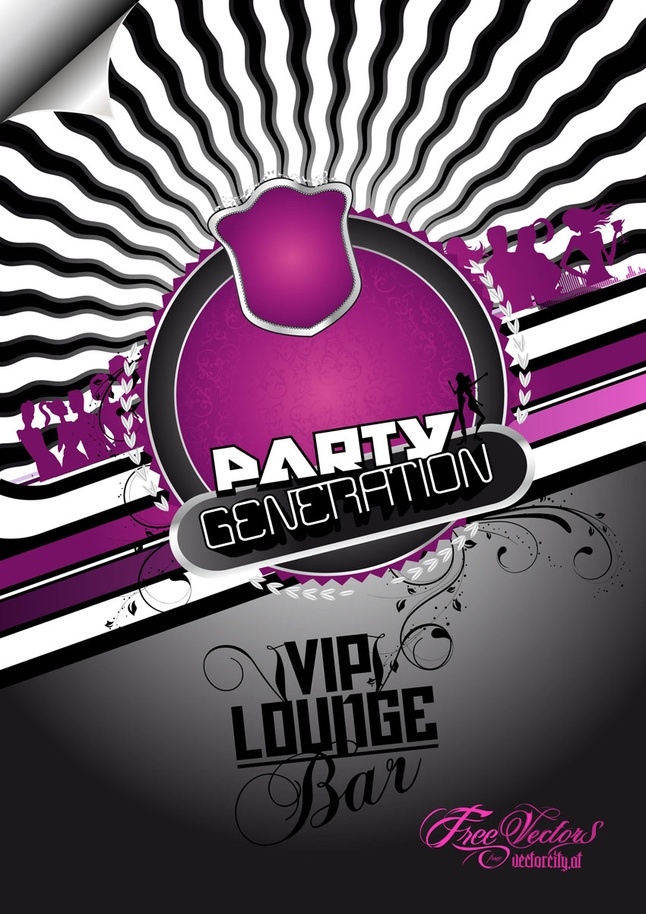 Party Vector Flyer Background Graphics