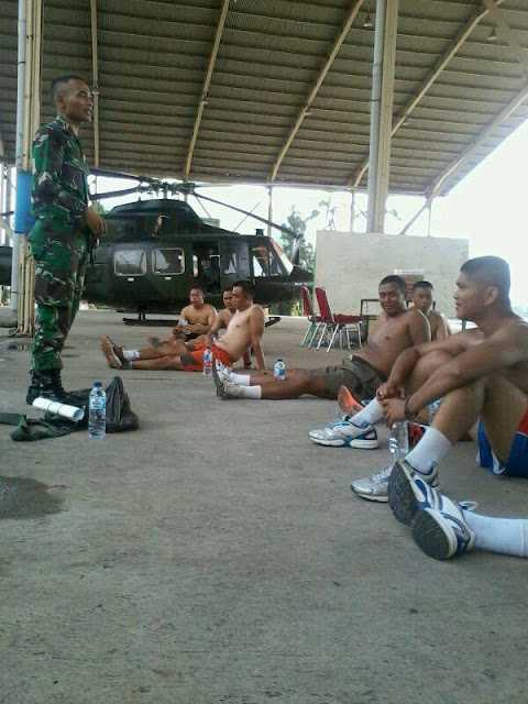 Pembinaan Jasmani bakal Casis (Dik PA dan Dik BA) Reg di Skadron 21 Penerbad