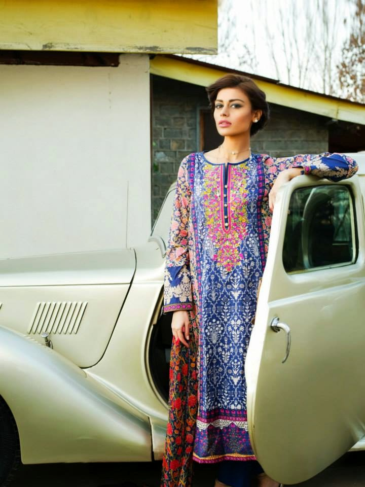 Khaadi new lawn collection 2015